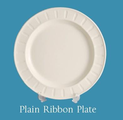 Leeds Pottery - Plain Ribbon Plate -0