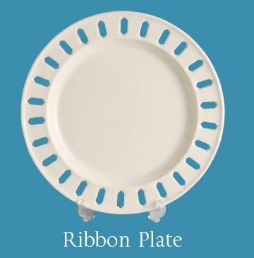 Leeds Pottery - Medium Pierced Ribbon Plate-0