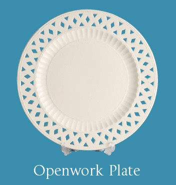 Hartley Greens Leeds Pottery Small Openwork Plate -0