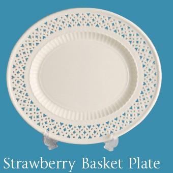 Hartley Greens Leeds Pottery Strawberry Basket Plate -0