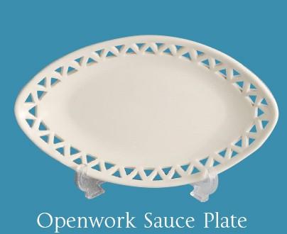 Leeds Pottery - Openwork Sauce Plate -0