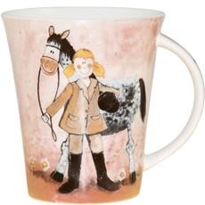 Alex Clark Ponies Pink pony Mug-0