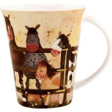 Alex Clark Ponies Pony Fence Mug-0