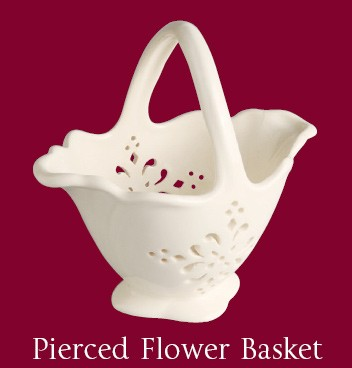 Hartley Greens Leeds Pottery Pierced Flower Basket-0
