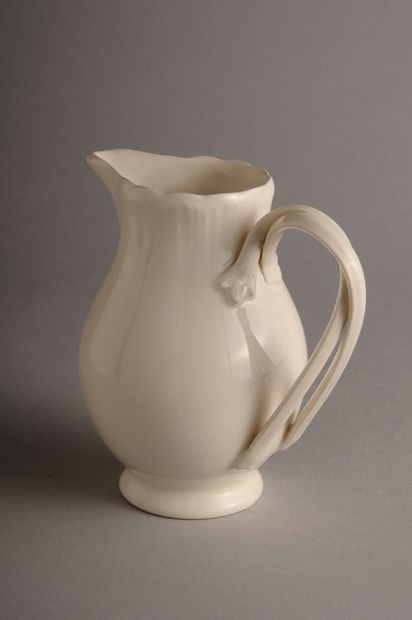 Hartley Greens Leeds Pottery Shell Edge Cream Milk Jug-0