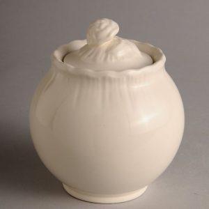 Hartley Greens Leeds Pottery Shell Edge Sugar Bowl-0