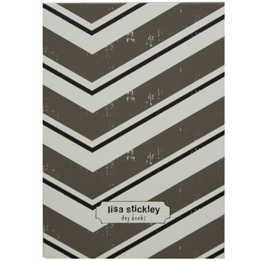 Lisa Stickley Classic Notebook Mushroom Parquet Stripe-0