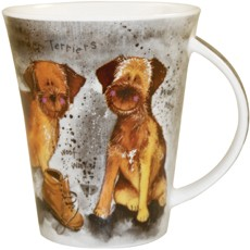 Alex Clark Dogs Border Terrier Mug-0