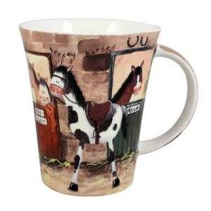 Alex Clark Ponies Pony Stable Door Mug-0