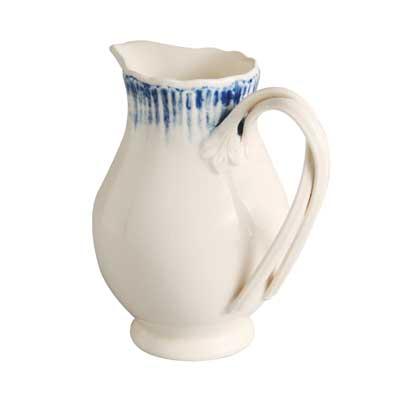 Hartley Greens Leeds Pottery Blue Shell Edge Cream / Milk Jug-1544