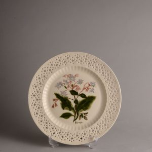 Hartley Greens Leeds Pottery Pierced Borage Plate -0