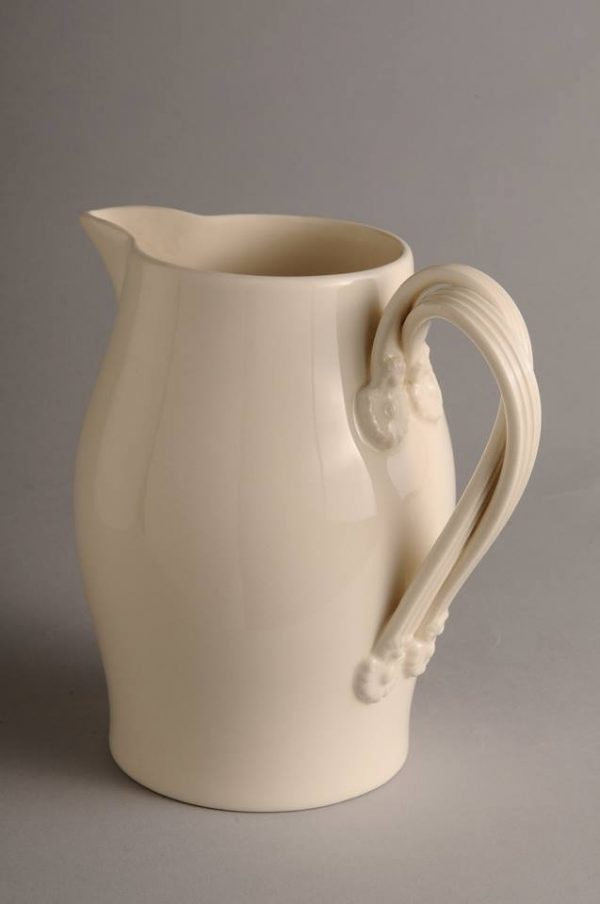 Hartley Greens Leeds Pottery Large Twisted Handle Milk Jug-0