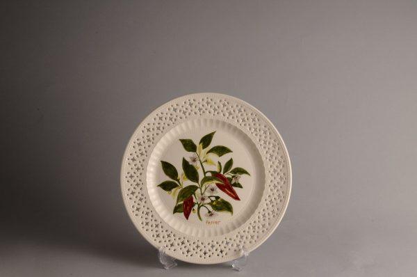 Hartley Greens Leeds Pottery Pierced Pepper Plate -0