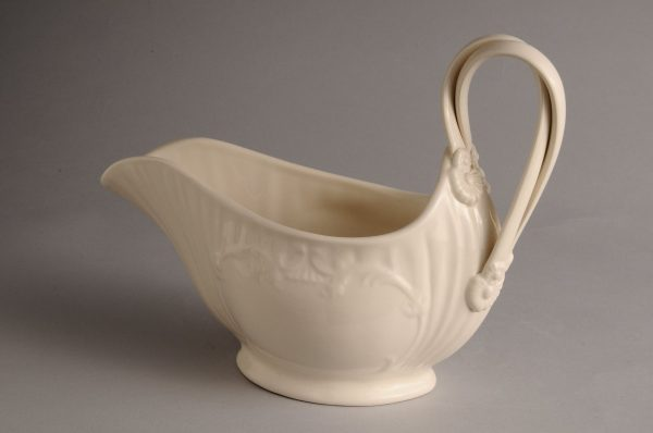 Hartley Greens Leeds Pottery Large Twisted Handle Sauce Boat Jug-0