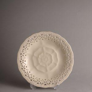Hartley Greens Leeds Pottery Tudor Rose Yorkshire Rose Plate -0
