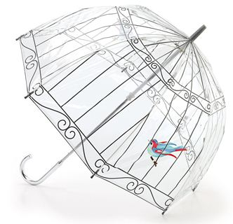 Lulu Guinness Bird in a Birdcage Umbrella-0