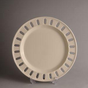 Hartley Greens Leeds Pottery Small Pierced Ribbon Plate -0