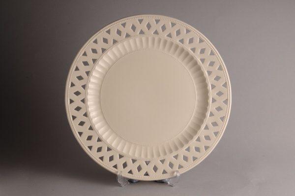 Hartley Greens Leeds Pottery Openwork Medium Plate -0