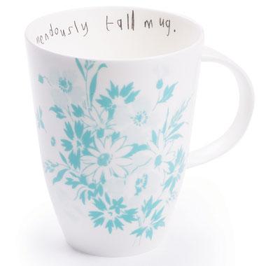 Lisa Stickley Old Blue Marigold Tall Mug -0