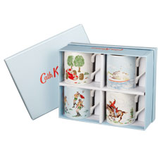 Cath Kidston Boys Larch Set of 4 Mugs Gift Boxed -0