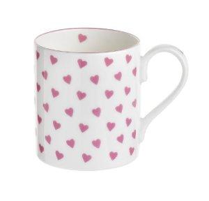 Nina Campbell Pink Heart Mug -0
