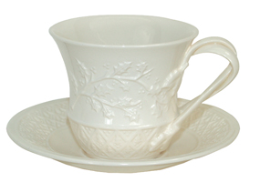 Hartley Greens Leeds Pottery Christmas Tea Cup and Saucer -0