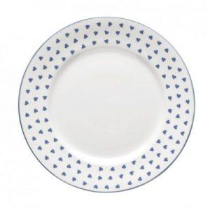 Nina Campbell Blue Heart Dinner Plate-0