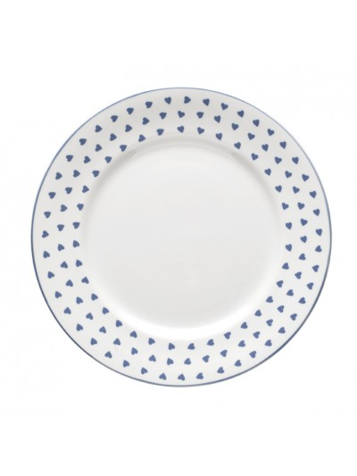 Nina Campbell Blue Heart Dinner Plate-0