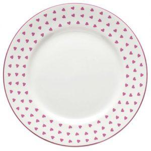 Nina Campbell Pink Heart Dinner Plate -0