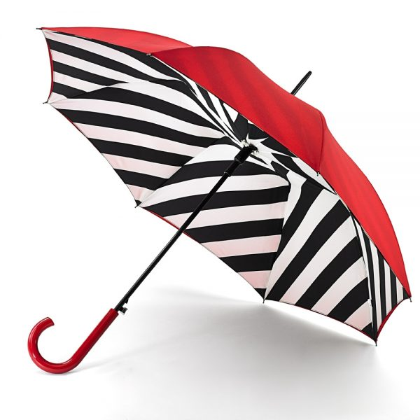 Lulu Guinness Diagonal Stripe Bloomsbury Umbrella -0
