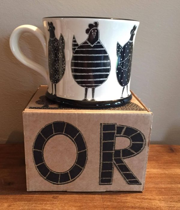 Moorland Pottery Chicken Mug Gift Boxed-0