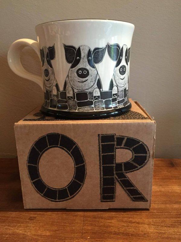 Moorland Pottery Pig Mug Gift Boxed-0
