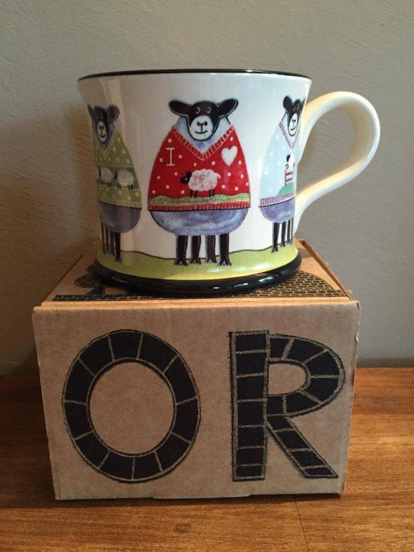 Moorland Pottery Sheep Woolly Jumpers Mug Gift Boxed-1946