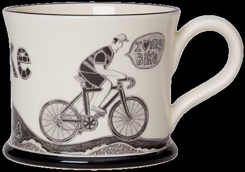 Moorland Pottery I Love Me Bike Mug