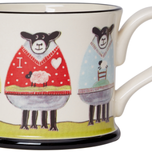 Moorland Pottery Sheep Wooly Jumpers Mug