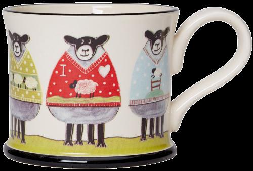 Moorland Pottery Sheep Wooly Jumpers Mug