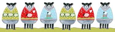 Moorland Pottery Sheep Woolly Jumpers Mug Gift Boxed-1046