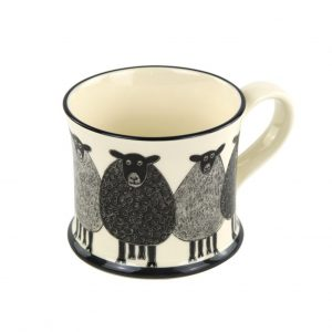 Moorland Pottery Sheep Mug Gift Boxed-0