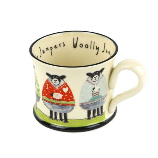 Moorland Pottery Sheep Woolly Jumpers Mug Gift Boxed-0