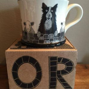 Moorland Pottery Sheepdog Sheep Dog Mug Gift Boxed-0