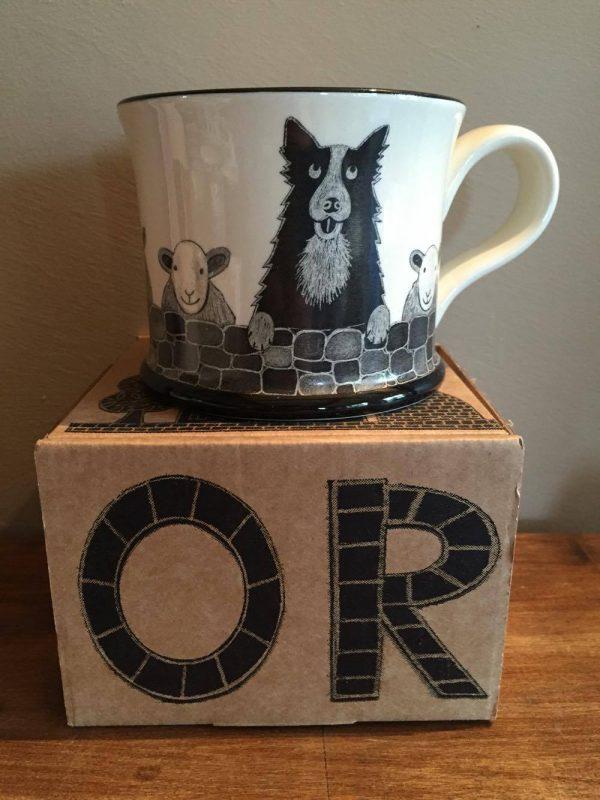 Moorland Pottery Sheepdog Sheep Dog Mug Gift Boxed-0