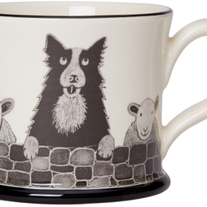 Moorland Pottery Sheep Dog Mug