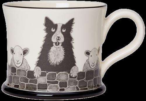 Moorland Pottery Sheep Dog Mug