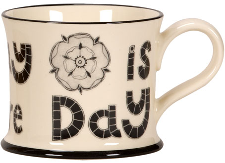 Moorland Pottery 'Every Day Is Yorkshire Day' Gift Boxed Mug-1073