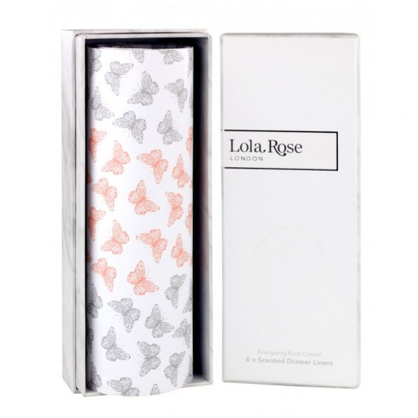 Lola Rose Energising Rock Crystal Scented Drawer Liners Gift Boxed x 6-0