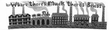 Moorland Pottery 'Where There's Muck There's Brass' Gift Boxed Mug-1071