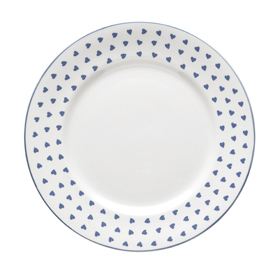 Nina Campbell Blue Heart Tea Plate-0