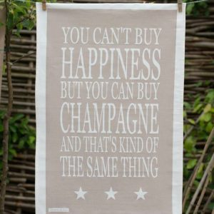 Green & Co Champagne Happiness Tea Towel-0