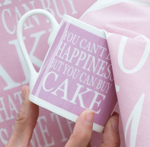 Green & Co Cake Happiness Mug-0