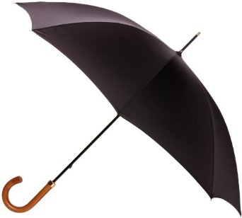 Fulton Mens Consul Black Walking Umbrella -0